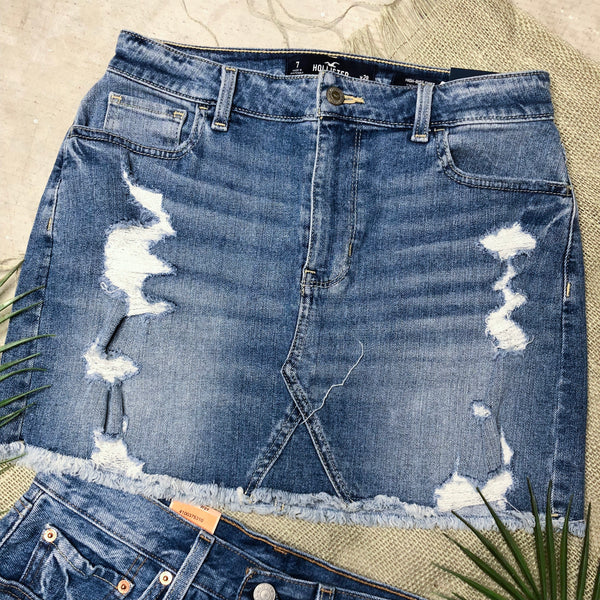 Hollister Denim Skirt - Size 7