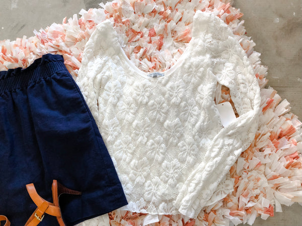 Lace Long Sleeve - XS