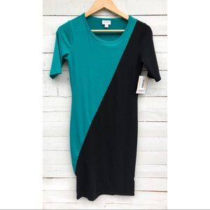 LuLaRoe Julia Color Block Dress - XS