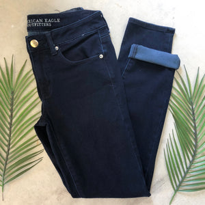 American Eagle Dark Wash Skinny Jeans - Size 8