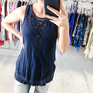 Lucky Brand Blue Patterned Tank - M