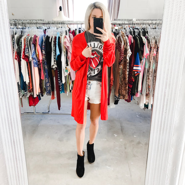 Red Duster Cardigan- Small