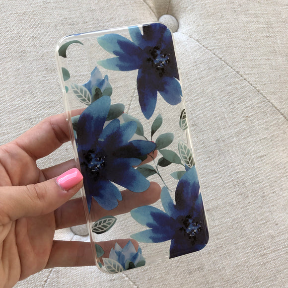 iPhone X Floral Clear Case