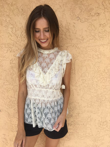 Free People Lace Top - S