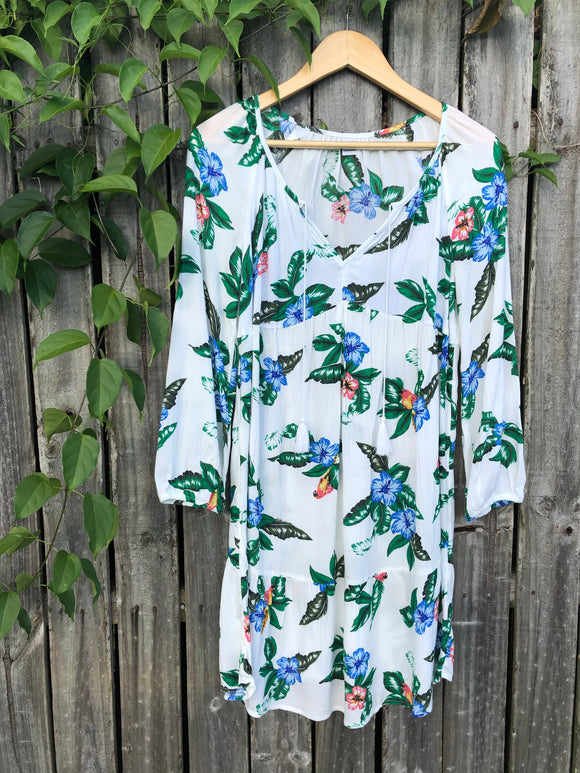 Old Navy Floral Boho Long Sleeve Dress XS