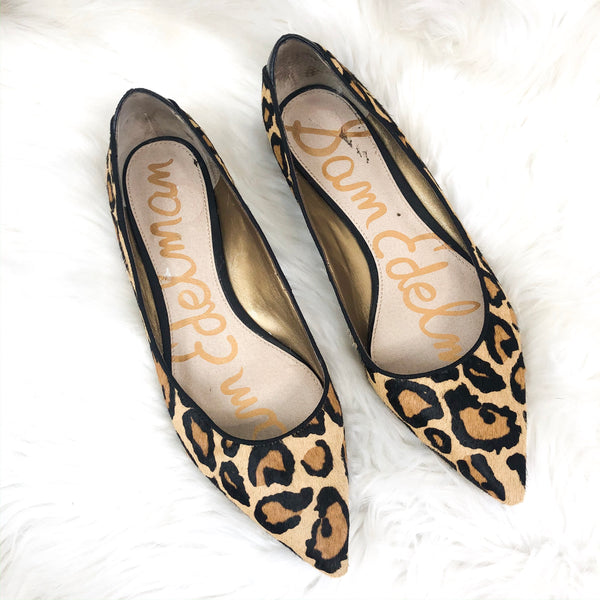 Sam Edelman Ray Leopard Pointed Flats 10