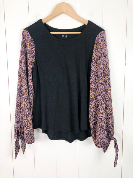 Anthropologie Long Balloon Sleeve Top Large