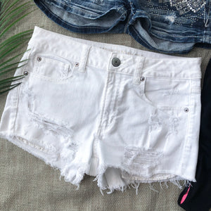 American Eagle White Shorts - Size 8