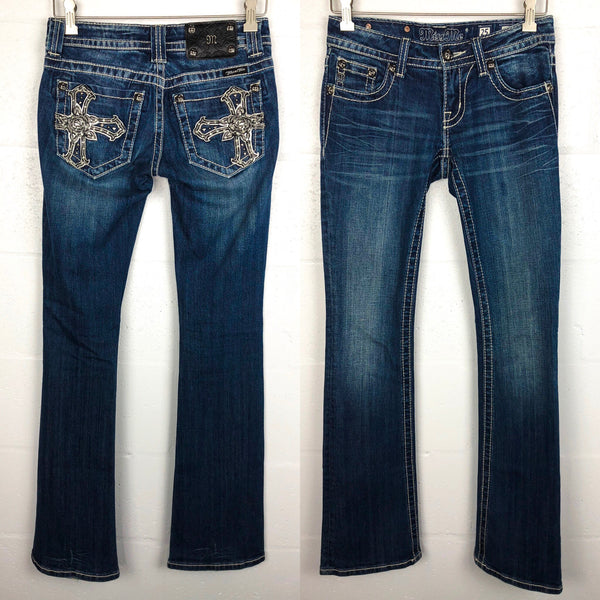 Miss Me Bopt Cut Jeans - 25