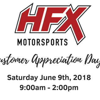 Customer Appreciation Day - Saturday June 9, 2018