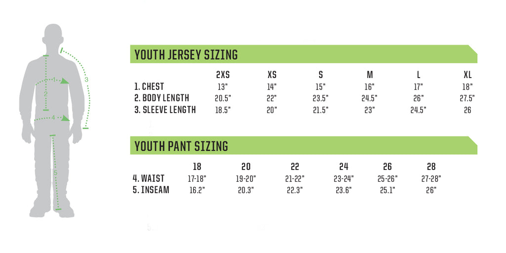 Thor Youth Sizing Chart