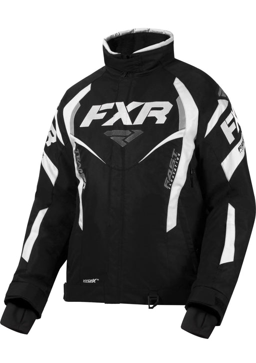 FXR Women's Team RL Jacket in Black/White - Front