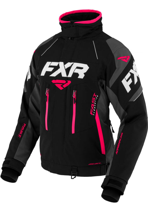 FXR Women's Adrenaline X Jacket in BLACK/CHAR/FUCHSIA - Front