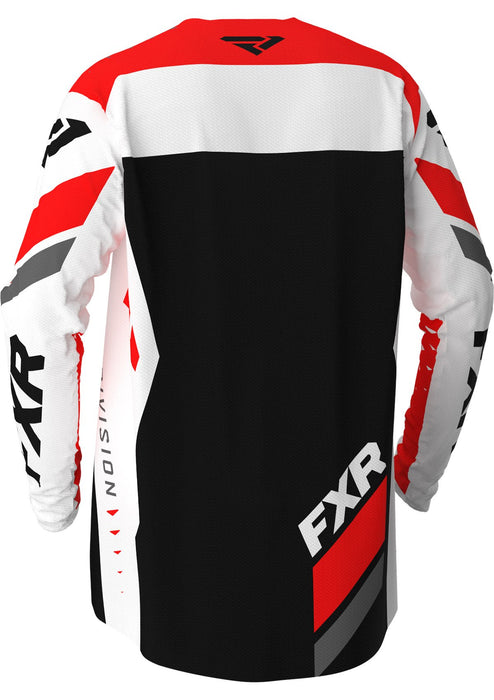 FXR Revo MX Jersey in White/Red/Charcoal/Black