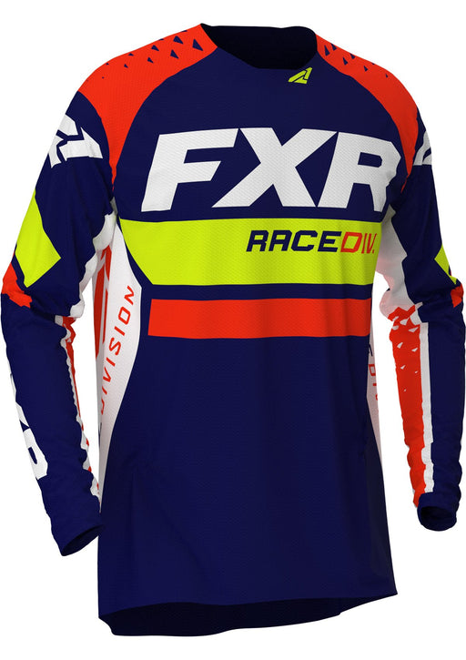 FXR Revo MX Jersey in Navy/Hi-Vis/Nuke Red
