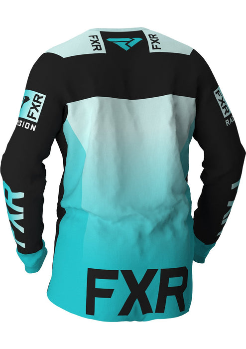 FXR Helium MX Jerseys in Black/Mint/Seafoam Fade