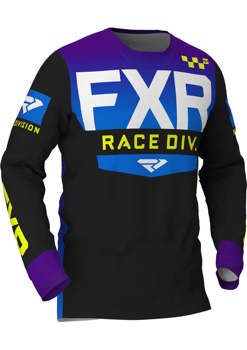 FXR Helium MX Jerseys in Black/Purple/Blue Fade
