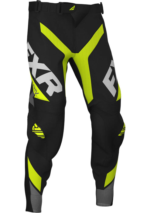 FXR Youth Pro-Stretch MX Pants in Revo Hi-Vis/Black/Charcoal