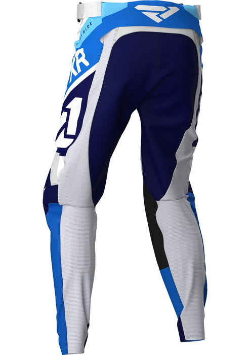 FXR Youth Clutch Air MX Pants in White/Navy/Blue