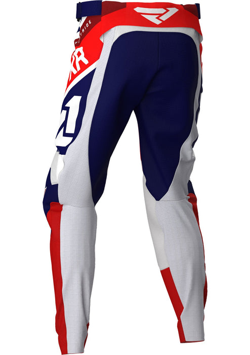 FXR Podium MX Pants in Navy/White/Red/Maroon