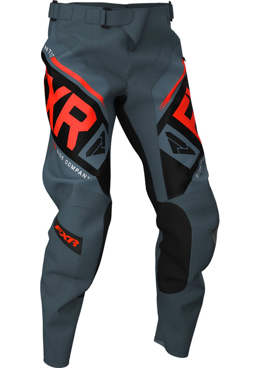 FXR Clutch Off-Road MX Pants in Steel/Black/Nuke
