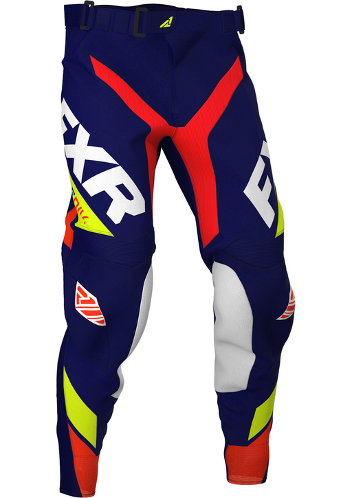 FXR Revo MX Pants in Navy/Hi-Vis/Nuke Red