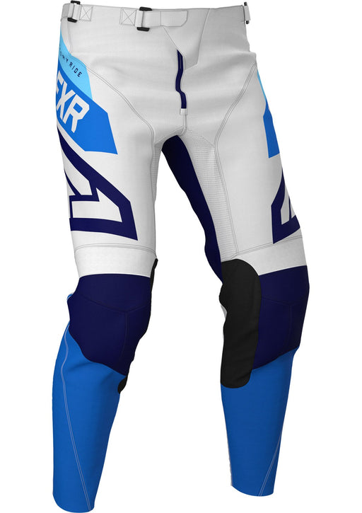 FXR Podium Air MX Pants in White/Navy/Blue
