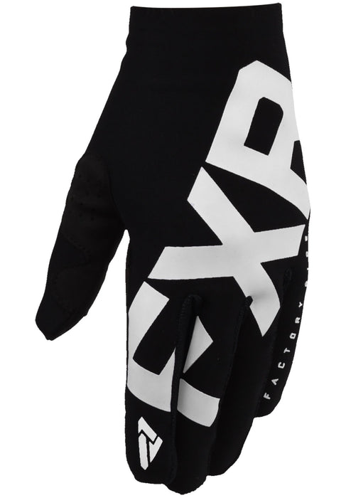 FXR Slip On Lite MX Gloves in Black/White