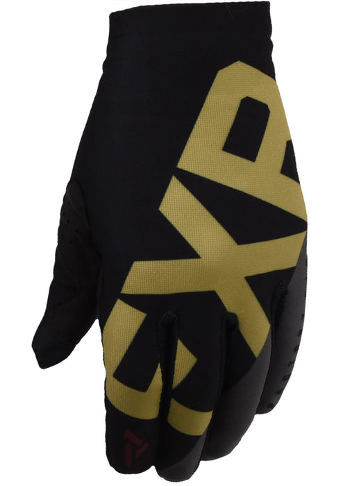 FXR Slip On Lite MX Gloves in Black/Gold/Rust