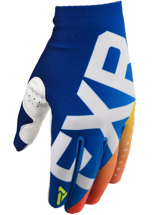 FXR Slip On Lite MX Gloves in Blue/Navy Fade