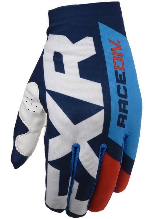 FXR Slip On Lite MX Gloves in Navy/Blue/Red