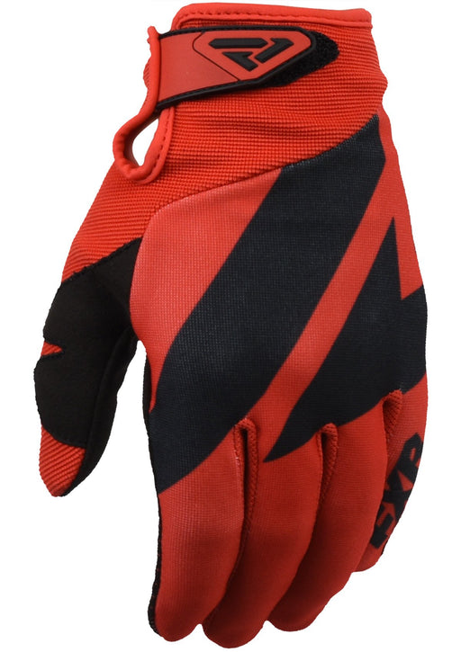 FXR Clutch Strap MX Gloves in Red/Black