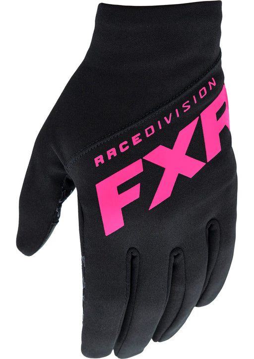 Venus Women's Gloves in Black/Electric Pink - Front