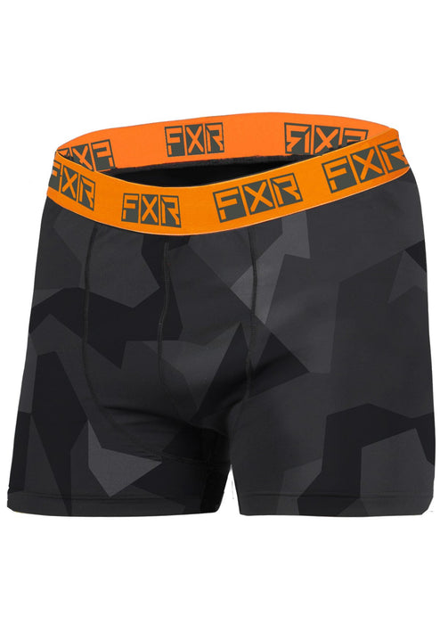 Atmosphere Boxer Brief in Charcoal Camo/Orange