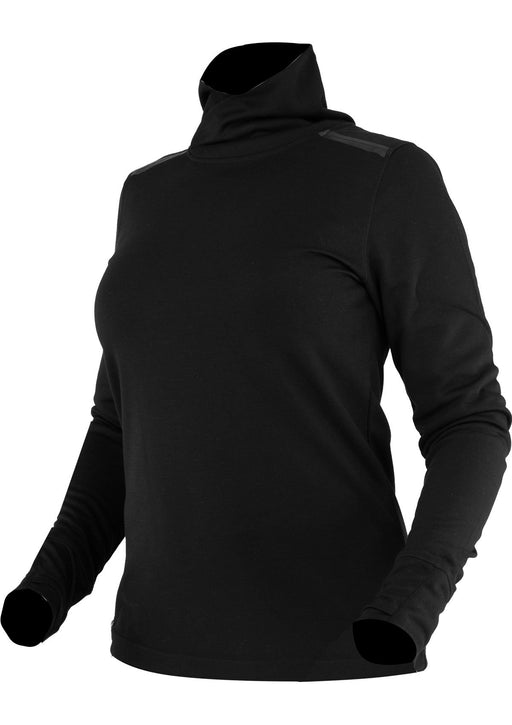 Endeavor Merino Women's Turtleneck in Black/Electric Pink