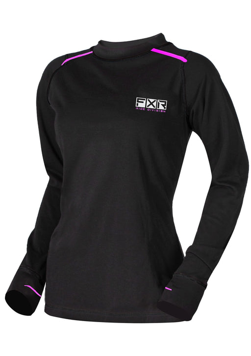 Vapour Merino Women's Longsleeve in Black/Electric Pink