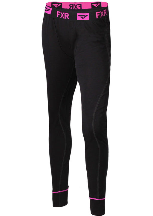 Vapour Merino Women's Pants in Black/Electric Pink