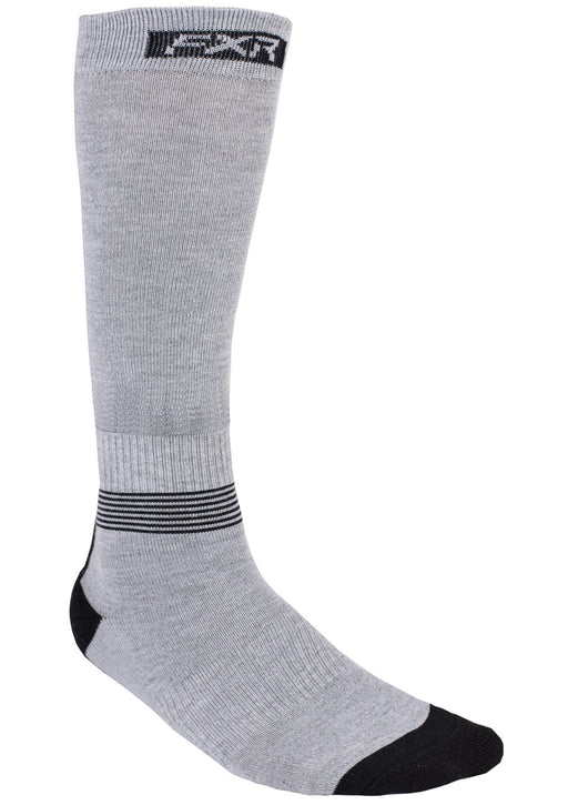 Mission Performance Socks in Grey Heather/Black