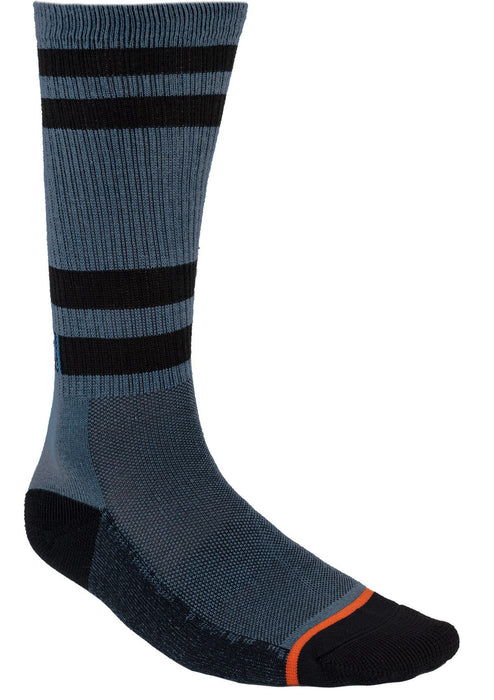Turbo Athletic Socks in Steel/Rust - Back