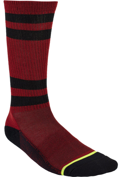 Turbo Athletic Socks in Steel/Rust - Front
