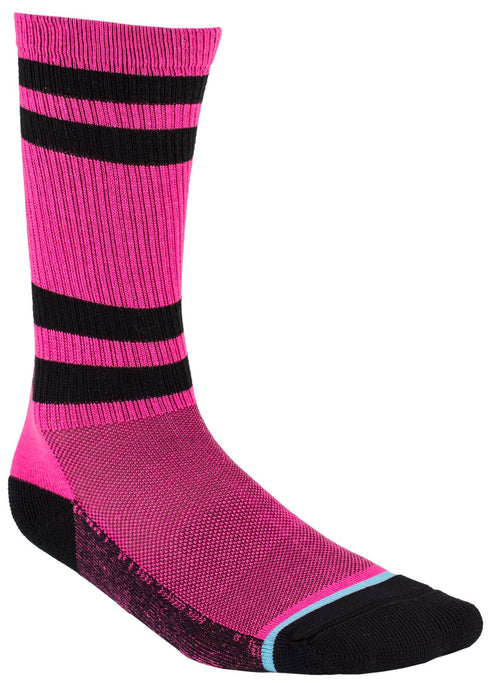 Turbo Athletic Socks in Electric Pink/Ocean - Back