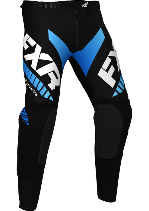 Revo Youth Pants in Black/Blue - Front