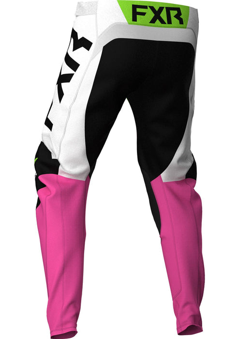 Podium Youth Pants in Black/White/Electric Pink/Lime/Blue