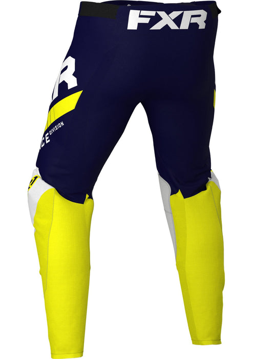 Revo Pants in Midnight/White/Yellow - Back