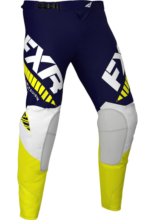 Revo Pants in Midnight/White/Yellow - Front