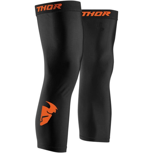 Thor Comp Knee Sleeve in Black/Red Orange