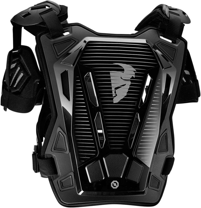Thor Women's Guardian Chest and Back Protector in Black/Silver - Back