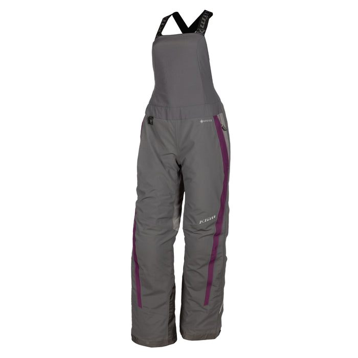 Klim Strata Bib in Asphalt - Deep Purple