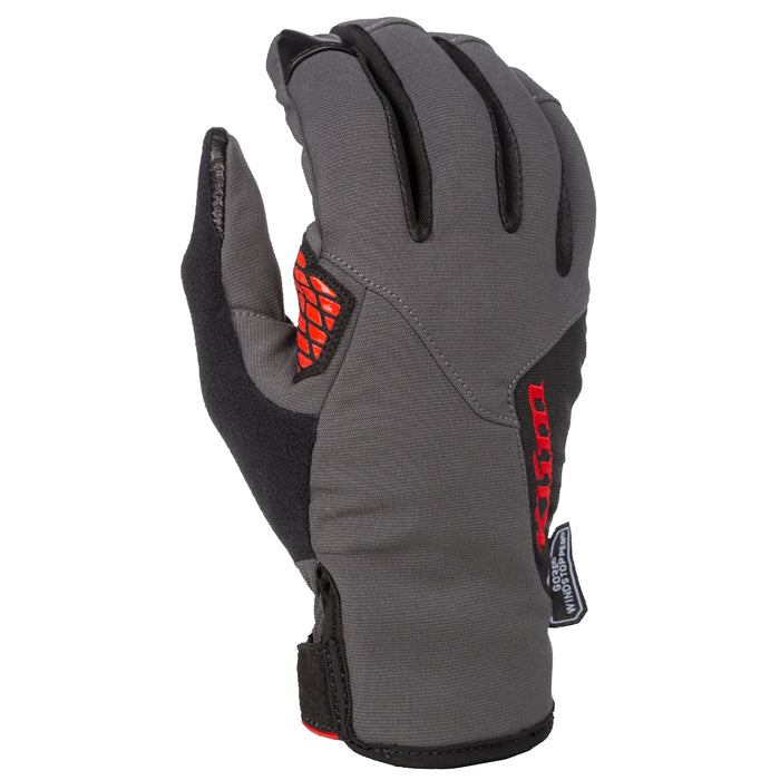 Inversion Gloves in Asphalt-High Risk Red