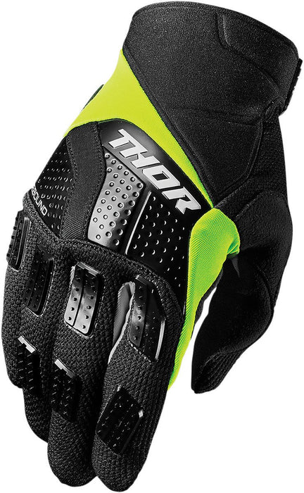 Thor Rebound Motocross Glove in Black/Lime